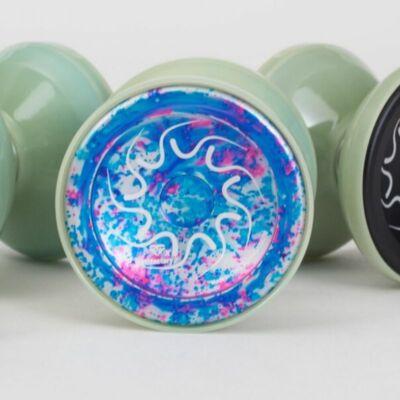 YoyoFactory Nine Dragons yo-yo, galaxy glow